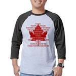 Canada Anthem Souvenir Mens Baseball Tee