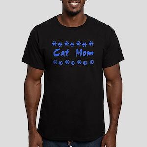 Cat Mom Men's Fitted T-Shirt (dark)