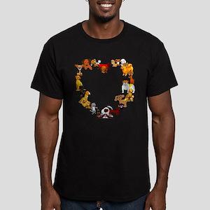 Dog Heart Men's Fitted T-Shirt (dark)