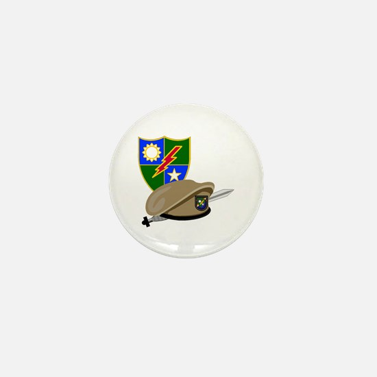 Army Ranger Beret Dagger Mini Button