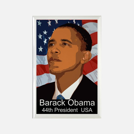 OBAMA SHOPS: Rectangle Magnet (100 pack)