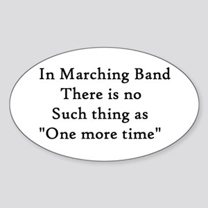 One More Time Sticker (Oval)