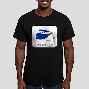 Crazy 80s Visor Men's Fitted T-Shirt (dark)
