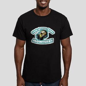 Monterey Otter Men's Fitted T-Shirt (dark)