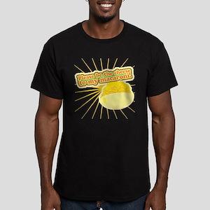 Cheese and Mac Men's Fitted T-Shirt (dark)