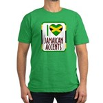I love Jamaican Accents Men's Fitted T-Shirt (dark