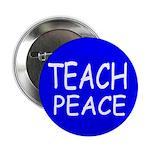 TEACH PEACE Button (100 pack) - blue