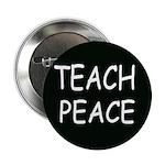 TEACH PEACE Button (100 pack) - black
