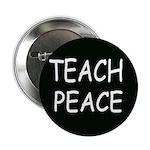TEACH PEACE Button (10 pack) - black