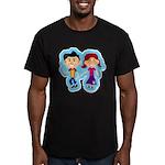 Sock Hop Kids Men's Fitted T-Shirt (dark)