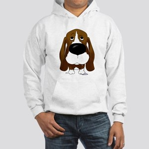 Big Nose/Butt Basset Hooded Sweatshirt