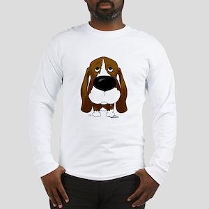 Big Nose/Butt Basset Long Sleeve T-Shirt