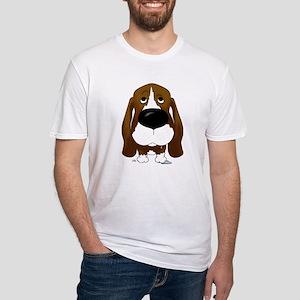 Big Nose/Butt Basset Fitted T-Shirt