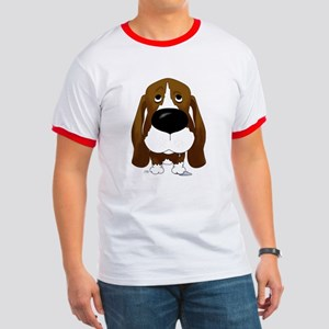 Big Nose/Butt Basset Ringer T