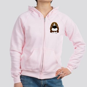 Big Nose/Butt Basset Women's Zip Hoodie