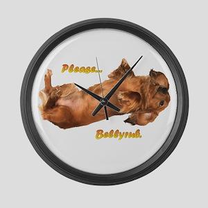 Bellyrub Doxie Large Wall Clock