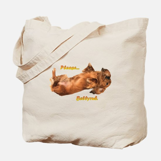 Bellyrub Doxie Tote Bag