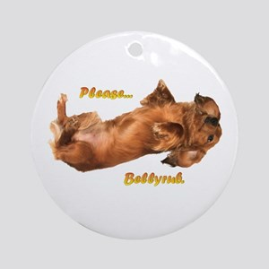 Bellyrub Doxie Ornament (Round)