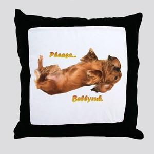 Bellyrub Doxie Throw Pillow