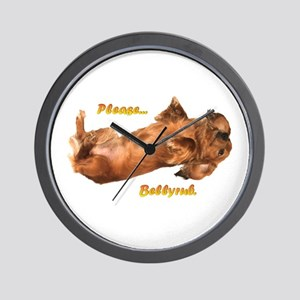 Bellyrub Doxie Wall Clock