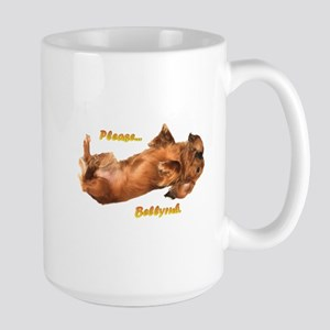 Bellyrub Doxie Large Mug