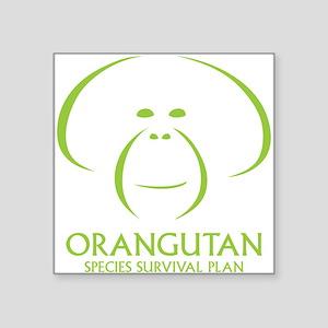 """Orangutan SSP Logo Square Sticker 3"""" x 3"""""""
