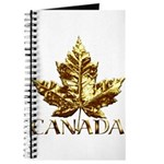 Gold Canada Maple Leaf Journal