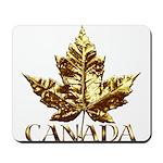 Gold Canada Maple Leaf Mousepad