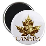Gold Canada Maple Leaf Magnets