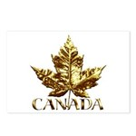 Gold Canada Maple Leaf Postcards (Package of 8)