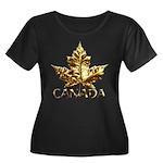 Gold Canada Maple Leaf Plus Size T-Shirt