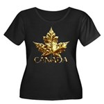 Gold Canada Maple Leaf Plus Size T-Shirt