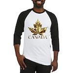Gold Canada Maple Leaf Baseball Jersey