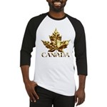 Gold Canada Maple Leaf Baseball Jersey