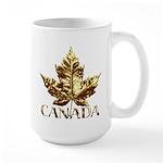 Gold Canada Maple Leaf Mugs