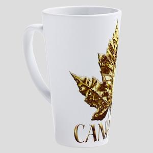 Gold Canada Maple Leaf 17 oz Latte Mug