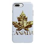 Gold Canada Maple Leaf iPhone 8/7 Plus Tough Case