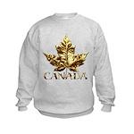 Gold Canada Maple Leaf Sweatshirt