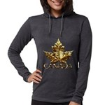 Gold Canada Maple Leaf Long Sleeve T-Shirt