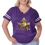 Gold Canada Maple Leaf Women's Plus Size Football