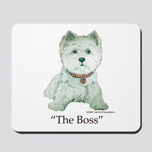 """""""The Boss"""" Westhighland White Terrier Mousepad"""