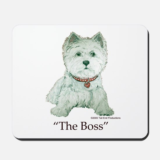"""The Boss"" Westhighland White Terrier Mousepad"