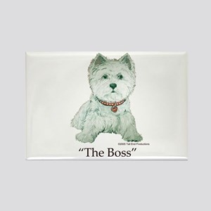 """The Boss"" Westhighland White Terrier Rectangle Ma"