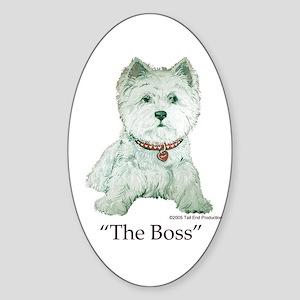 """The Boss"" Westhighland White Terrier Sticker (Ova"
