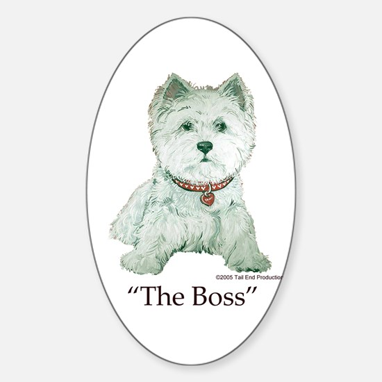 """""""The Boss"""" Westhighland White Terrier Decal"""