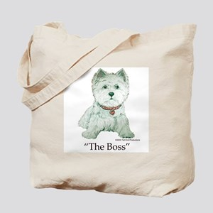 """The Boss"" Westhighland White Terrier Tote Bag"