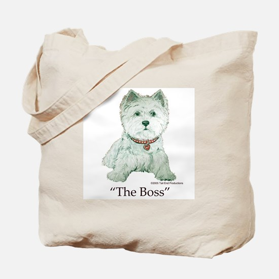 """""""The Boss"""" Westhighland White Terrier Tote Bag"""