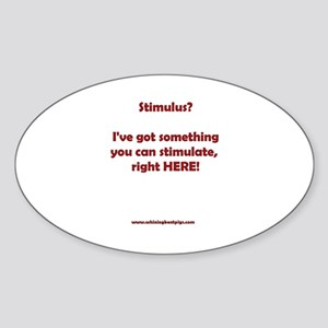 Stimulus? Oval Sticker