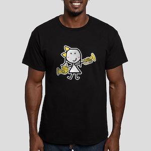 Mello & French Horn Men's Fitted T-Shirt (dark)