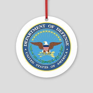 Dept. of Defense Ornament (Round)